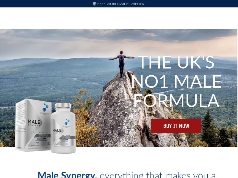 Male Synergy - UK (GB), [CPS], Health and Beauty, Supplements, Sell, coronavirus, corona, virus, keto, diet, weight, fitness, face mask