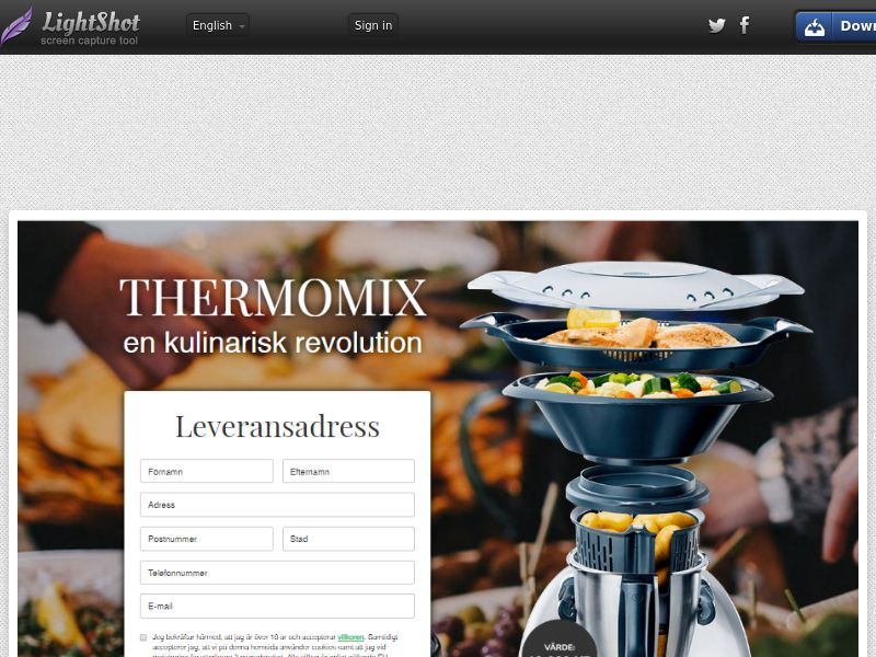 Click Thermomix (Sweepstake) (CC Trial) - Sweden [SE]