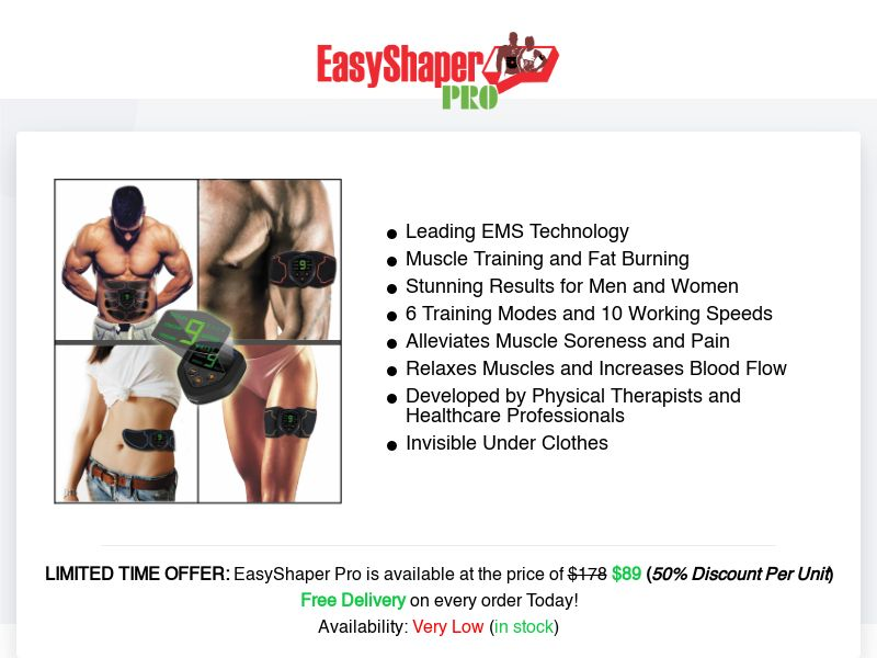 EasyShaper Pro (INTL) (CPS) (Personal Approval)