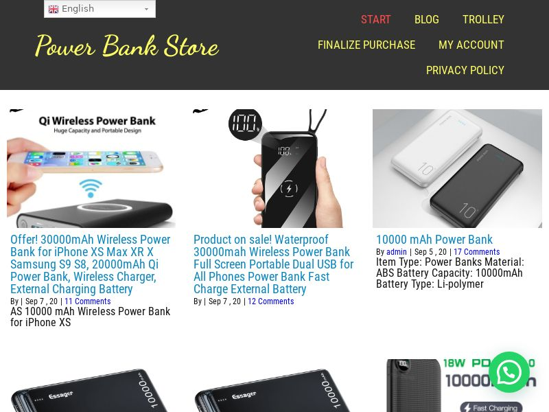 Tienda PowerBank - ES (ES), [CPS], Appliances and Electronics, Telephones and accessories, Sell, shop, gift