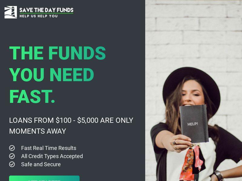 Savethedayfunds.Com US (WEB) RevShare
