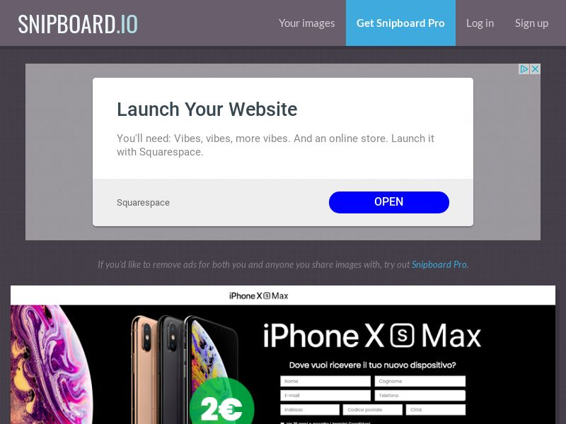 BigEntry - iPhone XS Max v3 IT - CC Submit