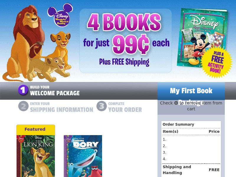 Disney Wonderful World of Reading Gold - Non Incent