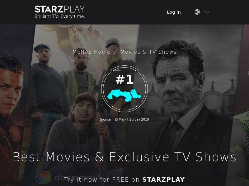 Starz Play Free trial - Web - UAE, SA
