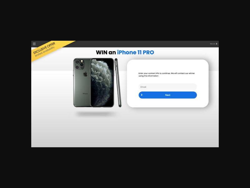 YOUSWEEPS Win iPhone 11 Pro (US) **New