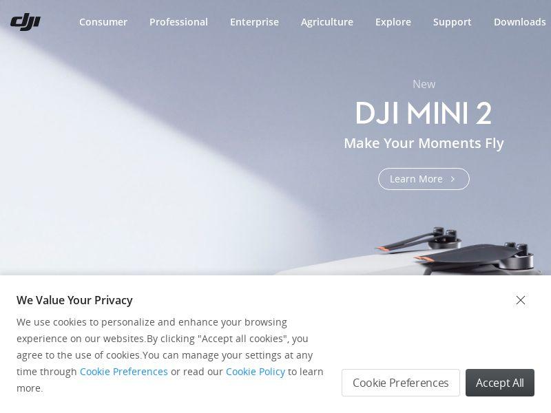 DJI.com - Revenue Share 5% - Desktop & Mobile [INTERNATIONAL]