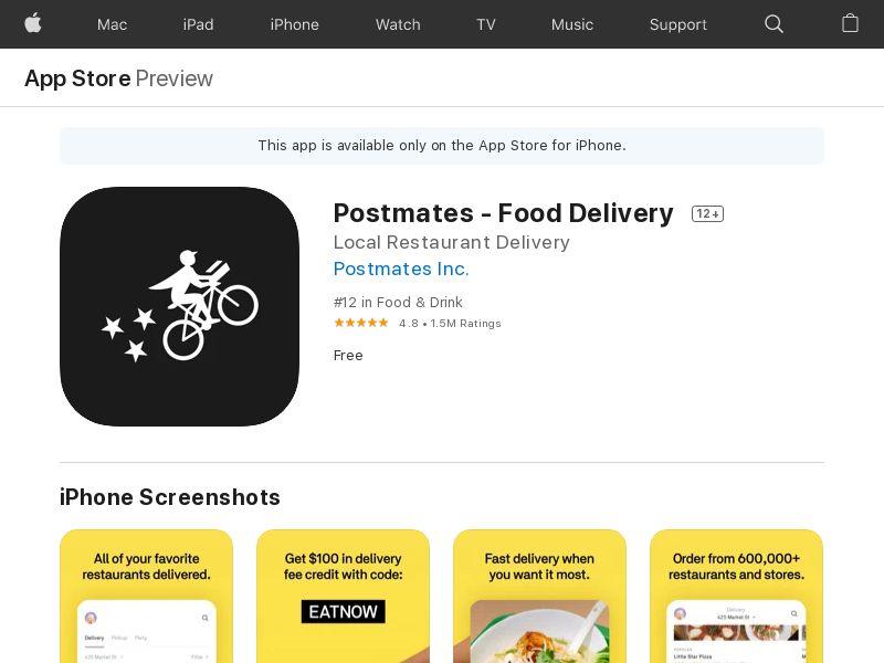 Postmates - Food Delivery