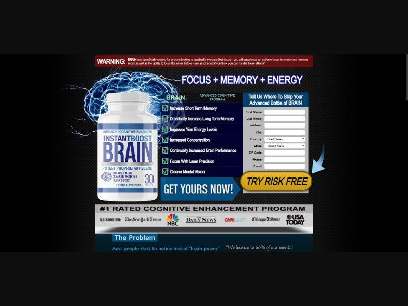 Instant Boost Brain - Brain Enhancement - SS - [US]
