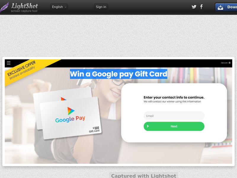Win A Google Pay Gift Card - US