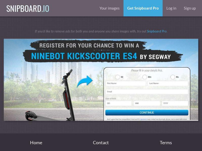 37875 - AU - NectarContests - Segway scooter (No Prelander) - SOI