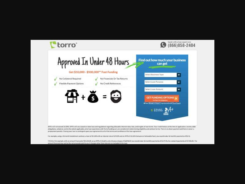 GoTorro - Small Business Loans - US