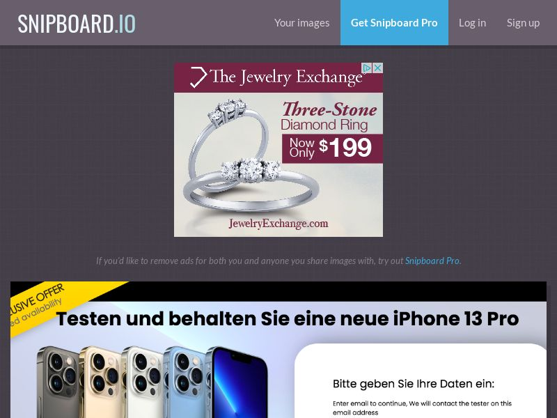 ConsumersConnect - Test & Keep the new iPhone 13 Pro LU - SOI
