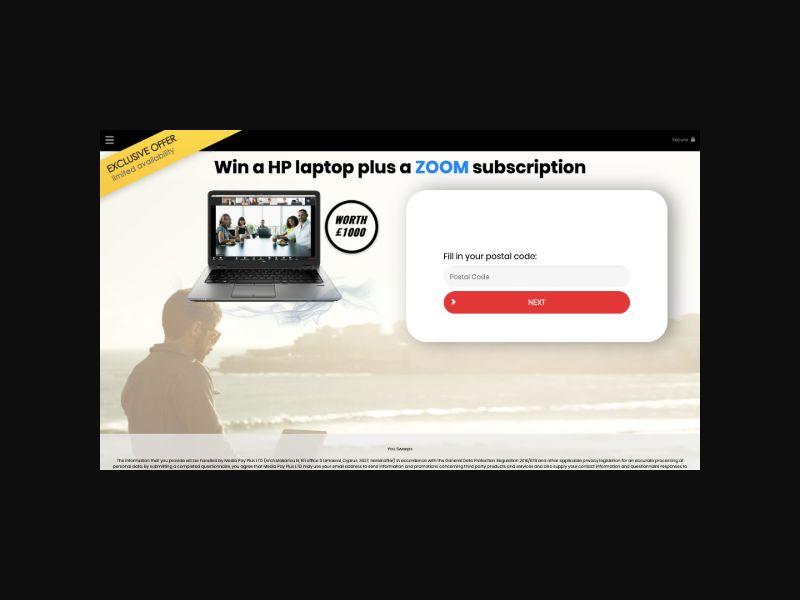 YOUSWEEPS - Win a HP Laptop (UK) SOI