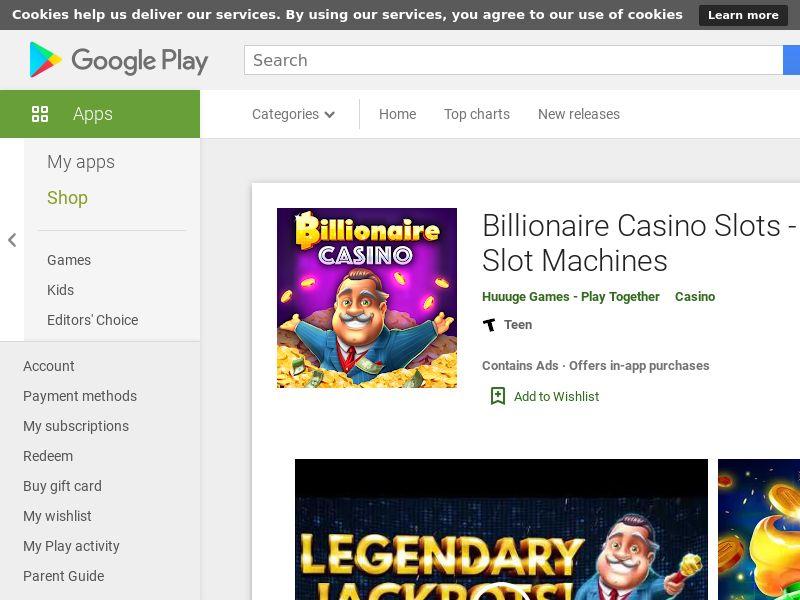Billionair Casino Slots 777 - Canada - Android APP