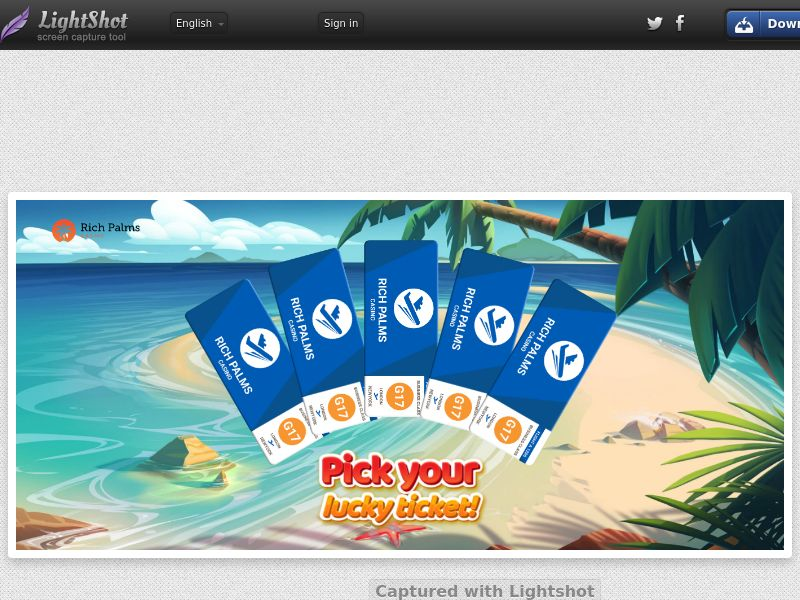 Rich Palm Casino - LuckyTicketPalms (US, CA, AU) (CPS) (Personal Approval)