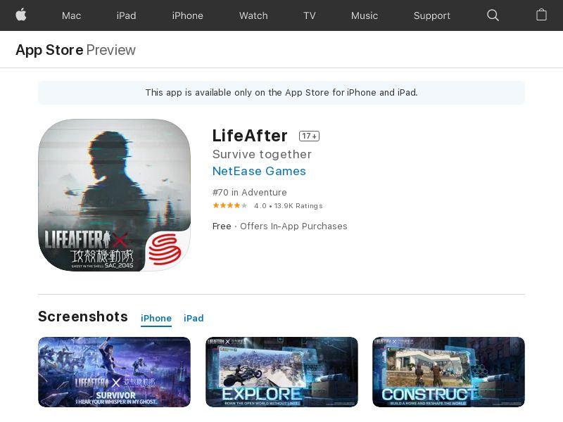 LifeAfter iOS JP (hard KPI)
