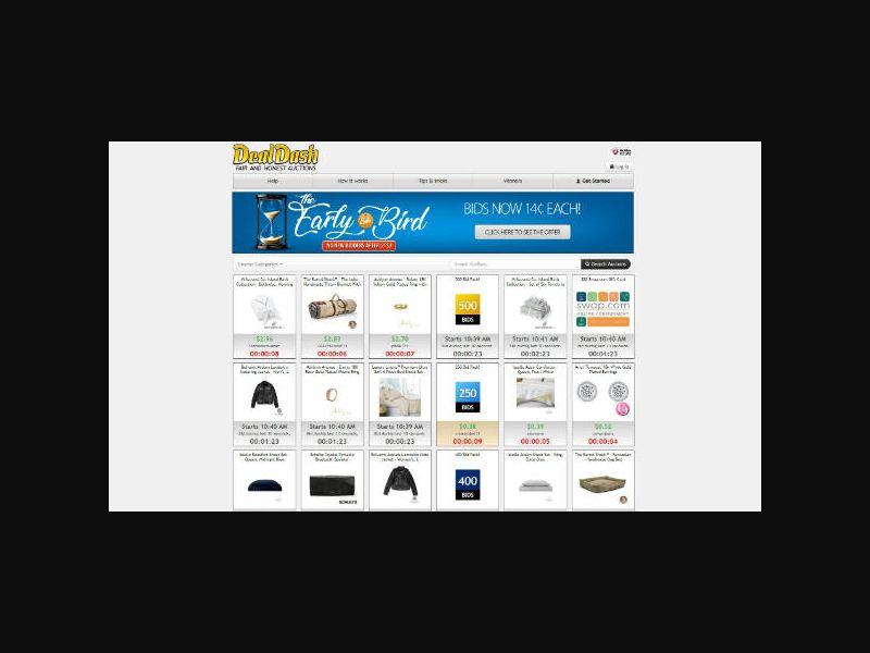 DealDash.com - Penny Auction (Non-Incent) US