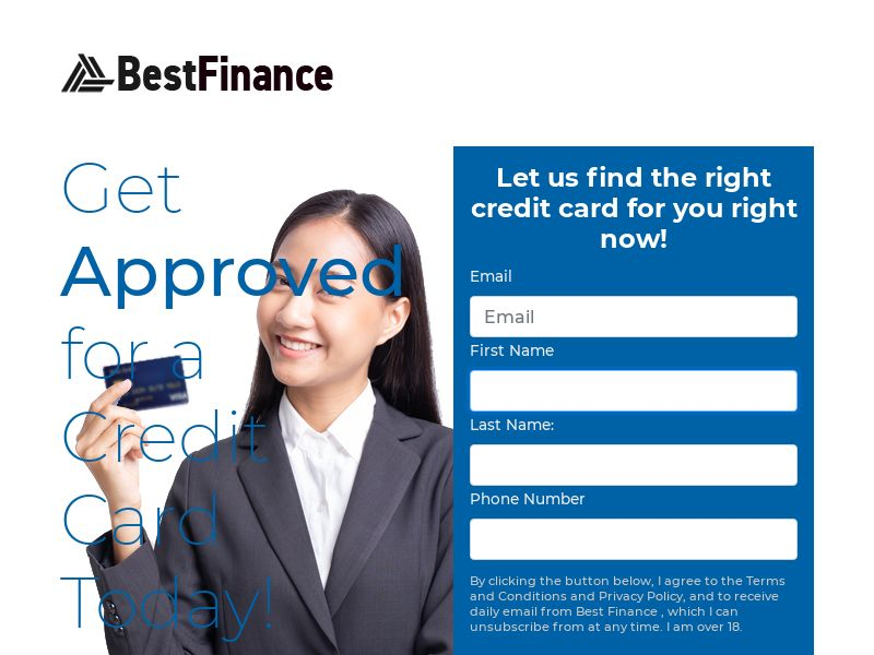 BestFinance.com - Get Approved for a Credit Card Today! | US