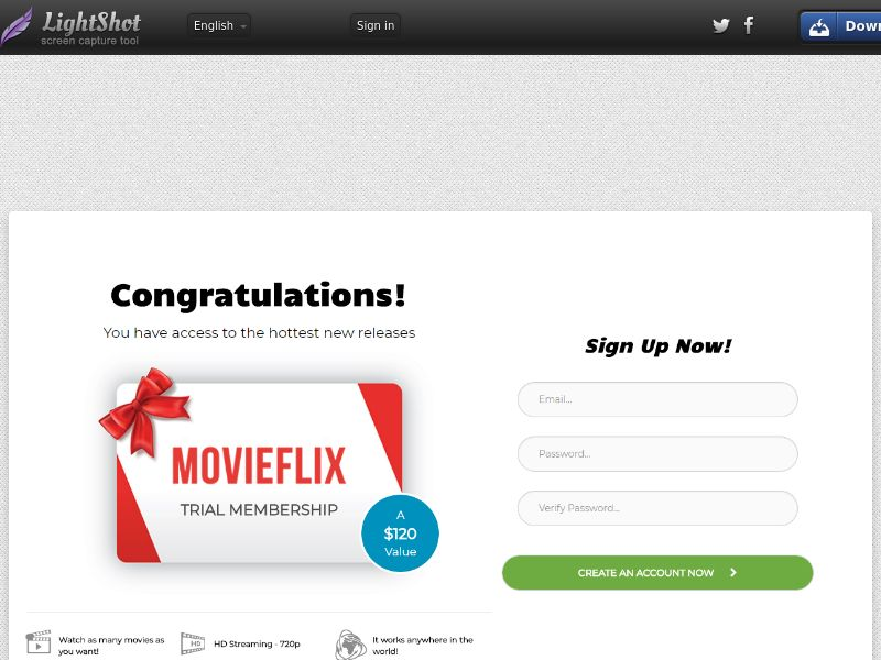 Kickplays MovieFlix Streaming Straight to Sign Up - Trial - UK