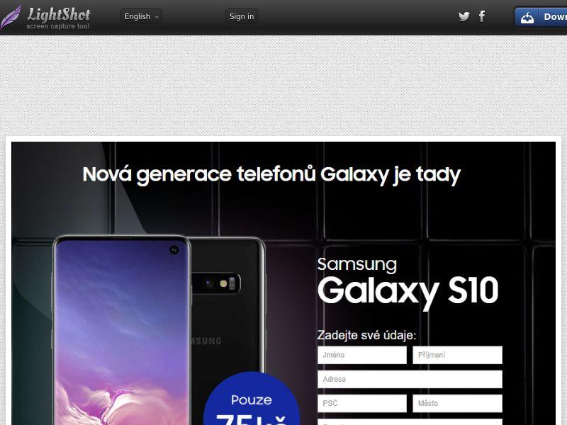Gelatine Samsung Galaxy S10 Black (Sweepstake) (CC Trial) - Czech Republic