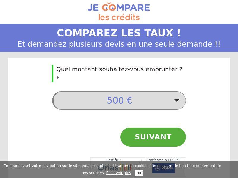 FR - Crédit à la Consommation - Je compare les crédits