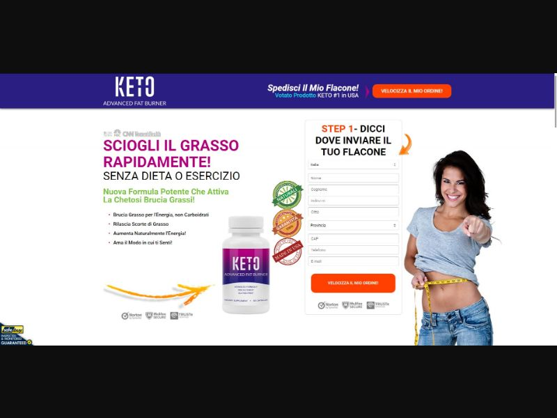 Keto Advanced Fat Burner - Diet & Weight Loss - SS - [IT]