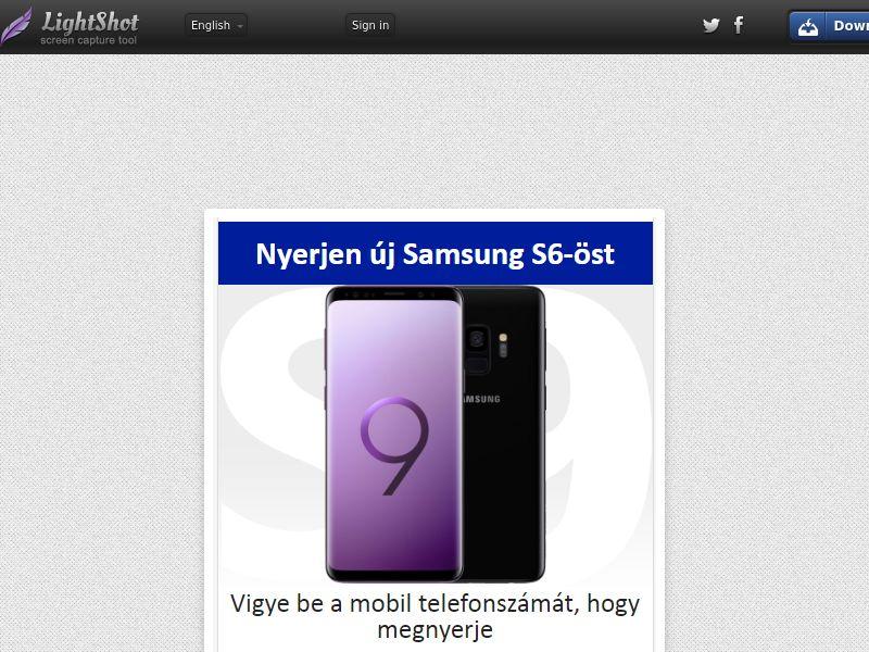 Fun2cell Win Galaxy S9 - (Sweepstakes) (MC - MO) - Hungary