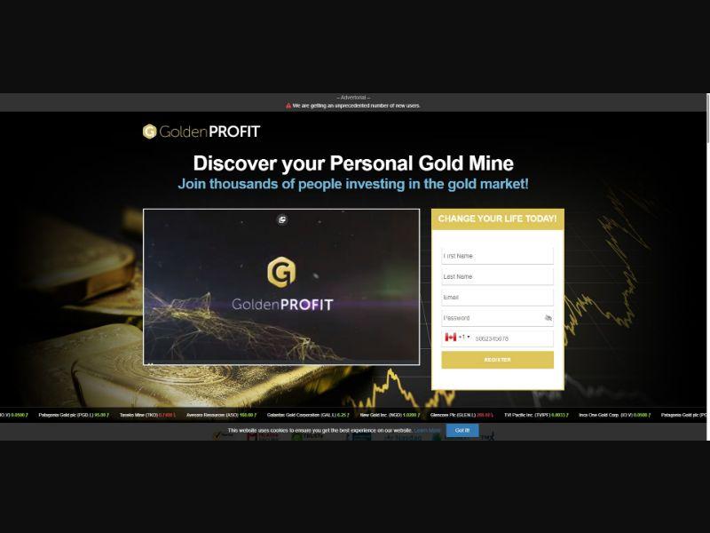 Golden Profit - $250 min CTC - VSL Crypto - SS - [50 GEOs]