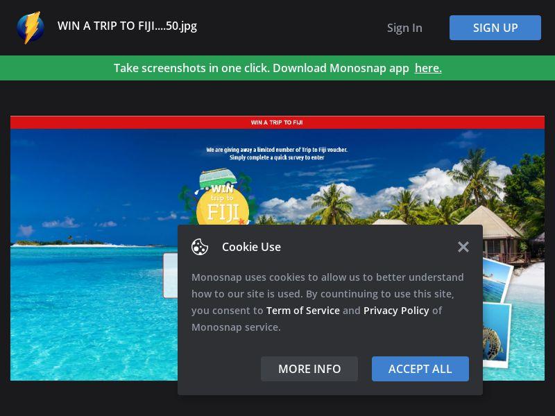 Australia (AU) - Trip to Fiji (Responsive) - PL