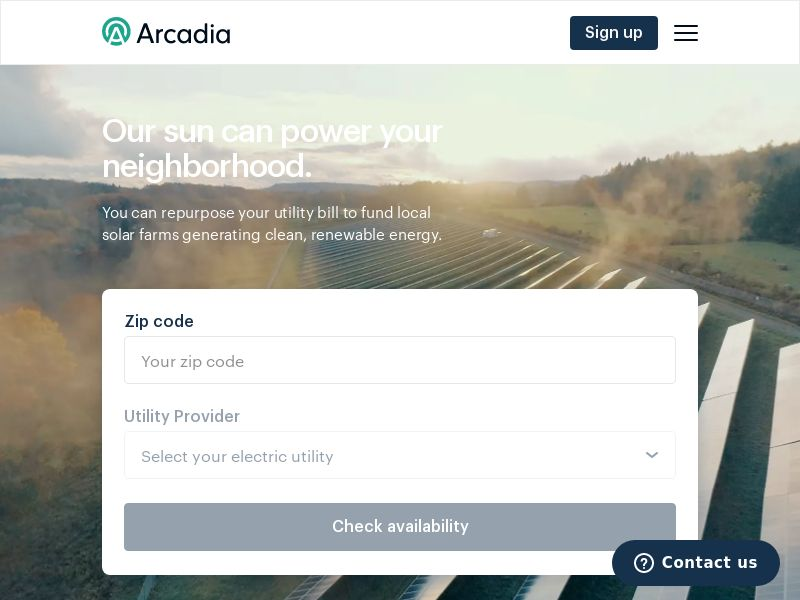 Arcadia Clean Energy (US) (Trial) (Personal Approval)