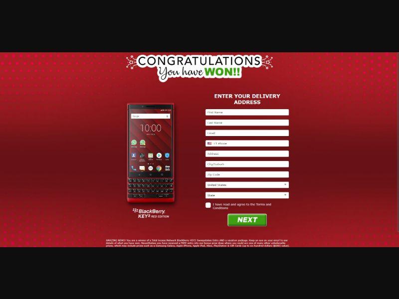 BlackBerry Key2 - Sweepstakes & Surveys - Trial - [US]