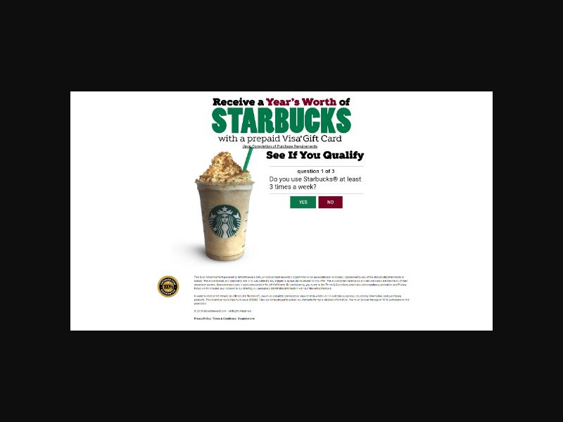 Receive a Years Worth of Starbucks (US)