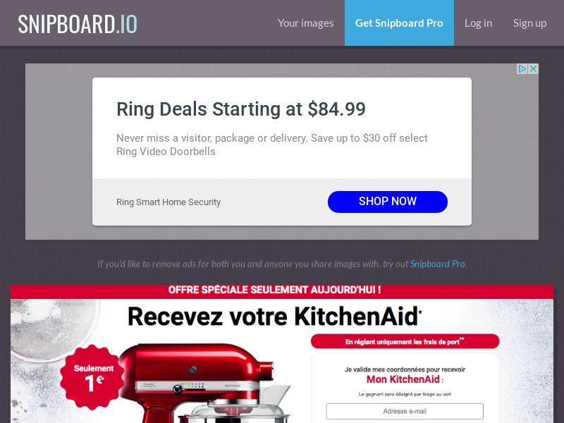 ClubShopping - KitchenAid FR/BE - CC Submit