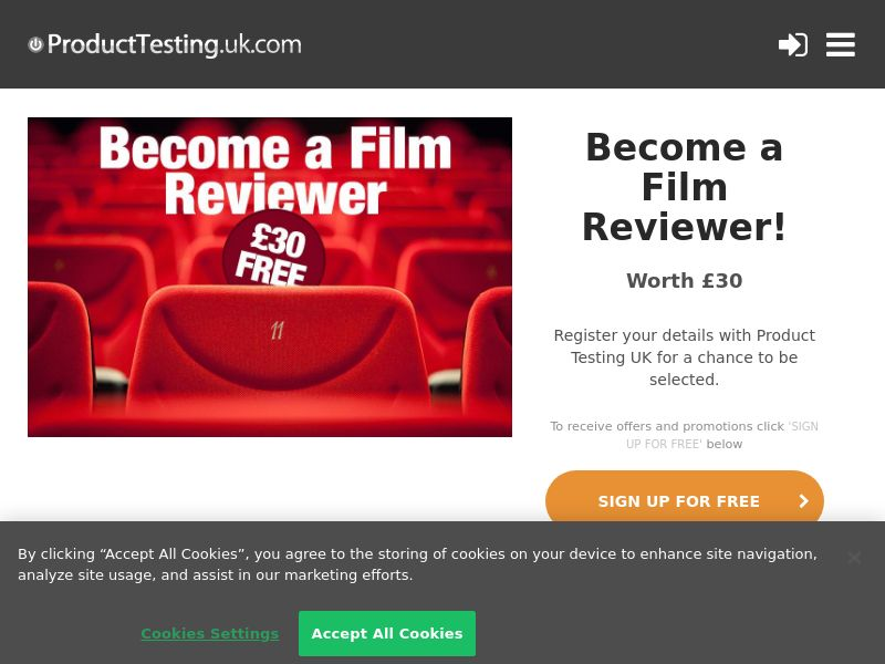 Email Submit - Film Reviewer Product - SOI (UK)