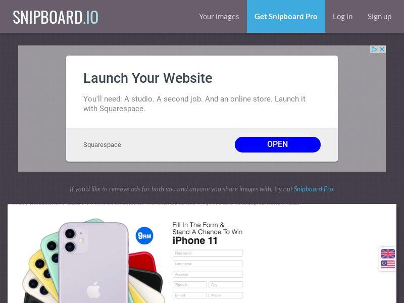 BigEntry - iPhone 11 v2 (Static LP) MY - CC Submit