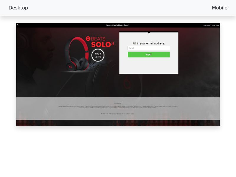 Sweepstake Test & keep a Beats Solo3 - CPL SOI - All devices - [US]