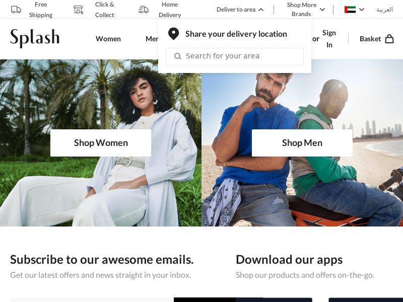 Splash - BH, SA, AE (BH,SA,AE), [CPS], Fashion, Clothes, Sell, shop, gift