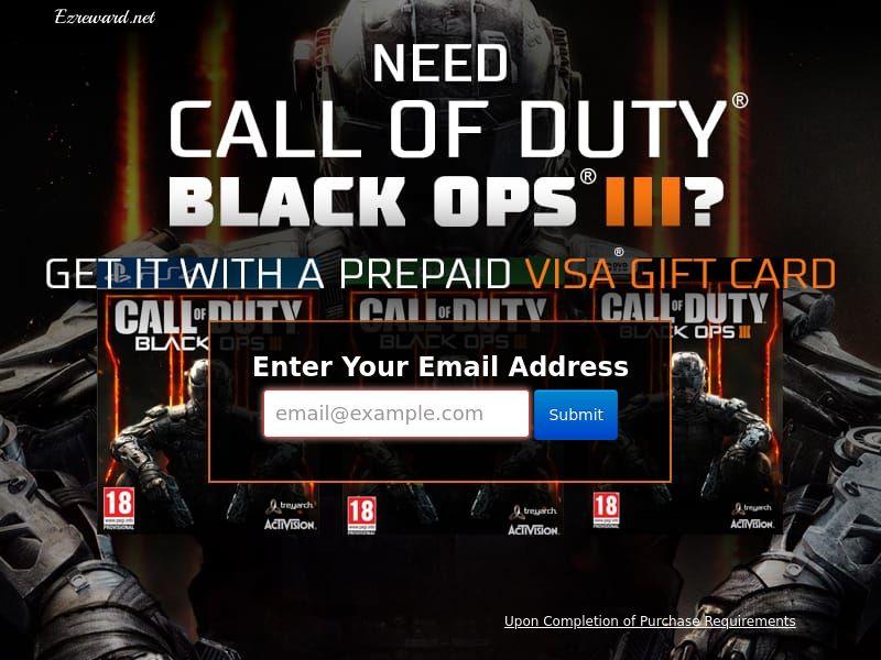 Lead Gen - COD: Black Ops III - SOI Non Incent (US)