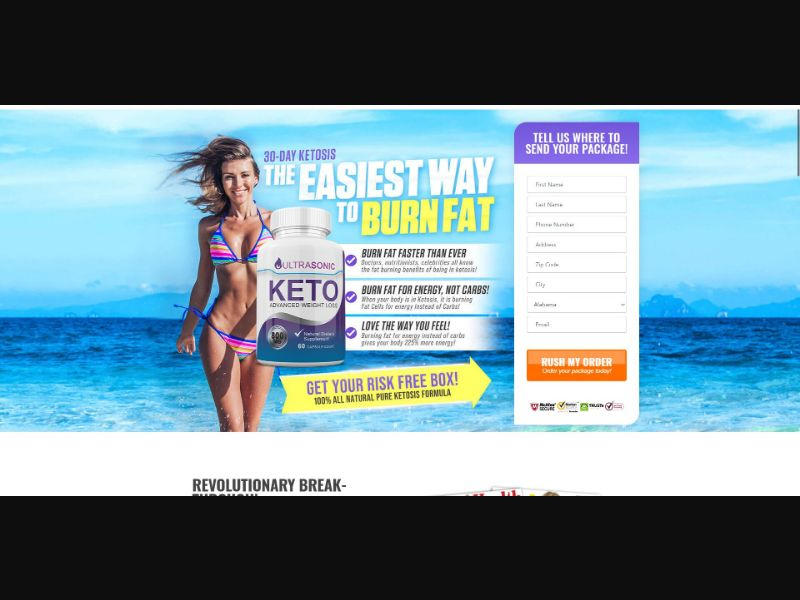 Ultra Sonic Keto - Diet & Weight Loss - Trial - [US] - with 1-Click Upsell [Step1 $22.1 / Upsell $22.1]