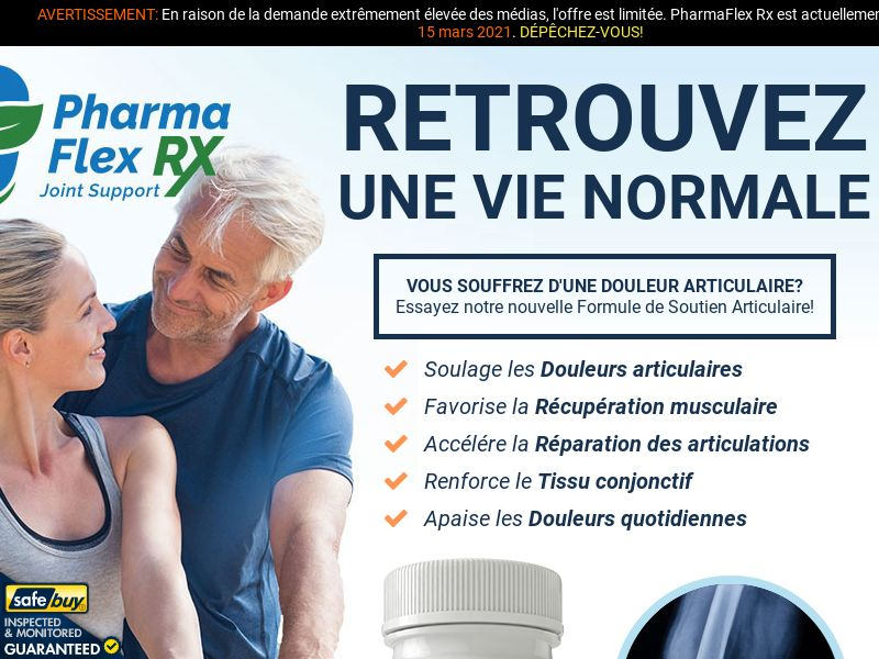 PharmaFlex Rx LP01 (FRENCH) - Joint Support