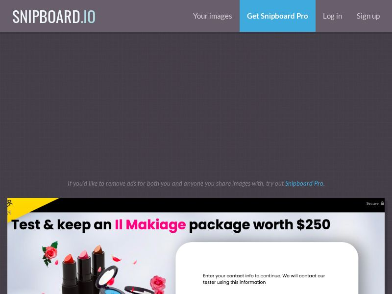 YouSweeps - IL MAKIAGE Cosmetics Package US - SOI