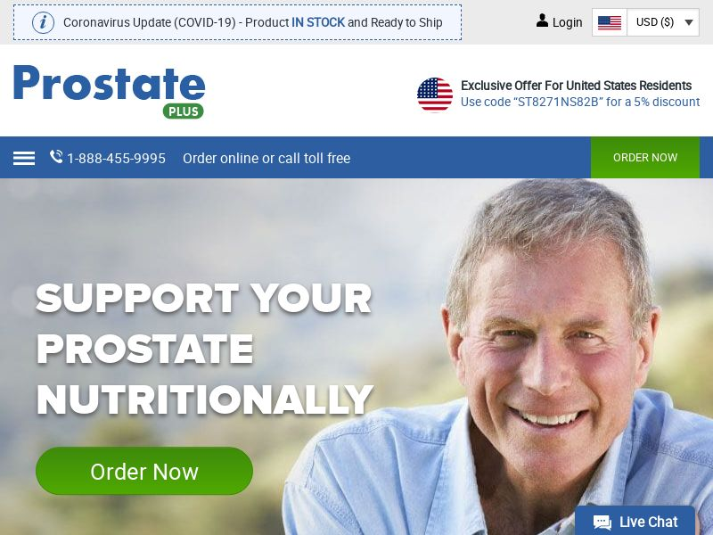 Prostate Plus | Natural Prostate Health Support Supplement