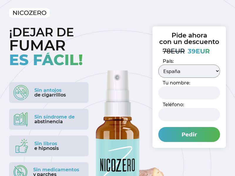 NicoZero ES - treatment for smoking