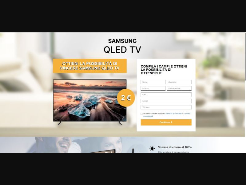 Samsung QLED TV - Sweepstakes & Surveys - Trial - [IT]