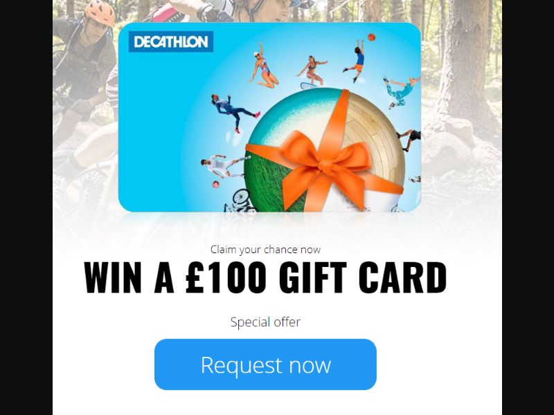 UK - Win Decathlon Gift Cards [GB] - SOI registration