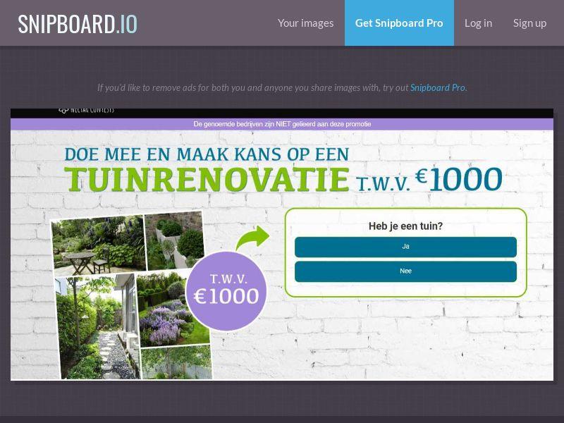 37347 - BE - NectarContests - Garden Renovation $1000 (dutch) (WithPrelander) - SOI