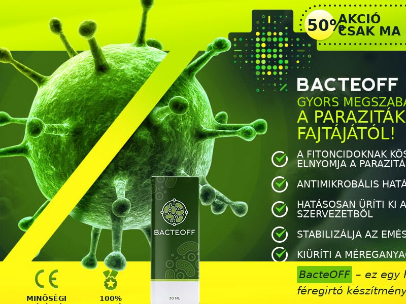 BacteOFF HU - anti-parasite product