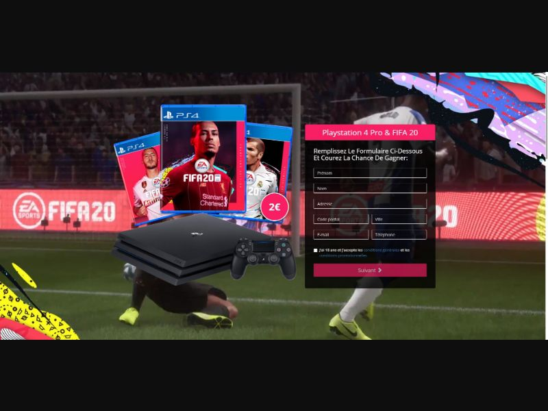 PS4 Pro & FIFA 20 - Sweepstakes & Surveys - Trial - [FR]