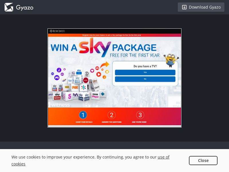 Win Sky TV Package (UK) (CPL) (Incent)