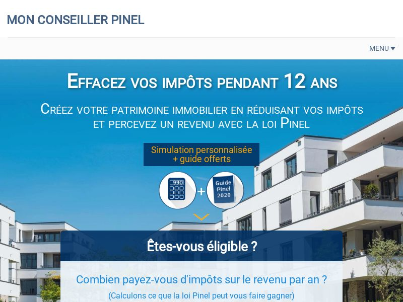 Mon Conseiller Pinel [FR] (Email Only) - CPL